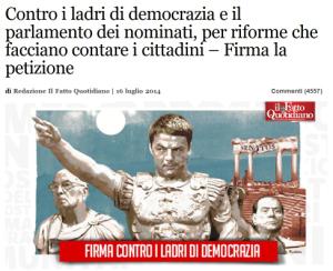 Petizione FattoQuotidiano Ladri di democrazia